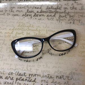 Betsey Johnson Black/White Polka Dots Readers